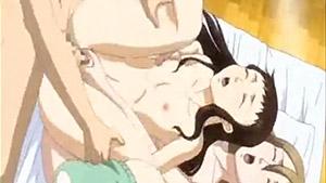 Un médecin et deux infirmières dans un hentai animé