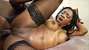Ebony faciale porno