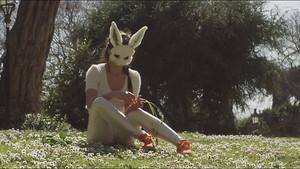 Gentille lapine rencontre vilain renard pour baiser