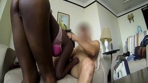 Maman black passe un casting de cul
